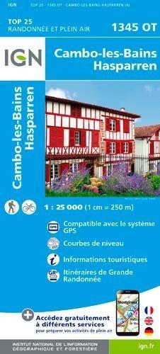 Carte IGN TOP 25 1345 OT Cambo-les-Bains - Hasparren