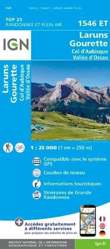 Carte IGN TOP 25 1546 Et Laruns - Gourette - Col d'Aubisque - Vallée d'Ossau