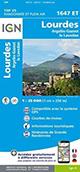Carte IGN TOP 25 1647 ET Lourdes - Argelès-Gazost - Le Lavedan