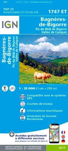 Carte de randonnée 1747 ET Bagnères de Bigorre - Pic du Midi - Vallée de Campan