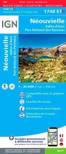 Carte de randonnée 1748 ET Néouvielle - Vallée d'Aure - Parc National des Pyrénées