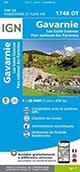 Carte IGN TOP 25 1748 OT Gavarnie - Luz-St-Sauveur - Parc National des Pyrénées