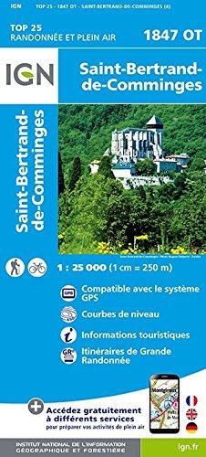 Carte IGN TOP 25 1847 OT Saint-Bertrand-de-Comminges