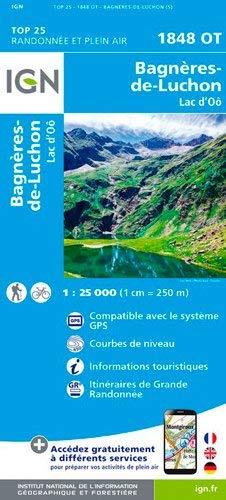 Carte IGN TOP 25 1848 OT Bagnères-de-Luchon
