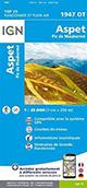 Carte de randonnée 1947 OT Aspet - Pic de Maubermé
