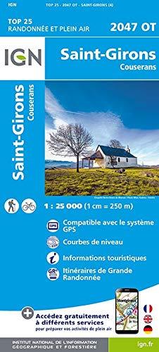 Carte IGN 2047 OT Saint-Girons - Couserans