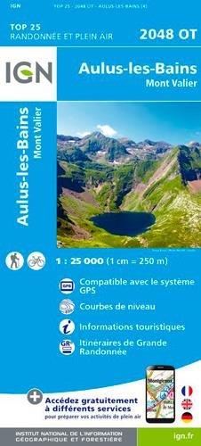 Carte IGN 2048 OT Aulus-Les-Bains - Mont-Valier