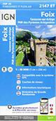 Carte de randonnée 2147 ET Foix – Tarascon-sur-Ariège