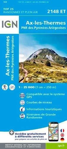 Carte IGN 2148 ET Ax-les-Thermes
