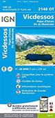 Carte de randonnée 2148 OT Vicdessos – Pique d'Estats – Pic du Montcalm