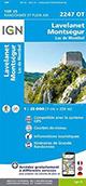 Carte de randonnée 2247 OT Lavelanet – Montségur