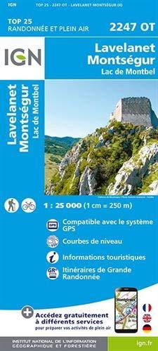 Carte IGN 2247 OT Lavelanet - Montségur