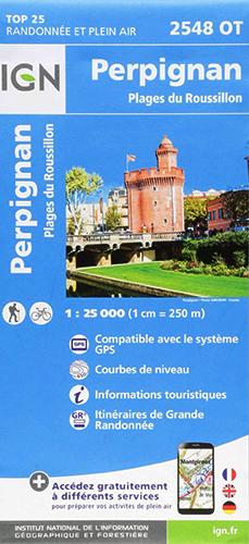 Carte IGN 2548 OT Perpignan