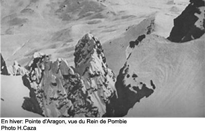 Pointe d'Aragon vue du Rein de Pombie