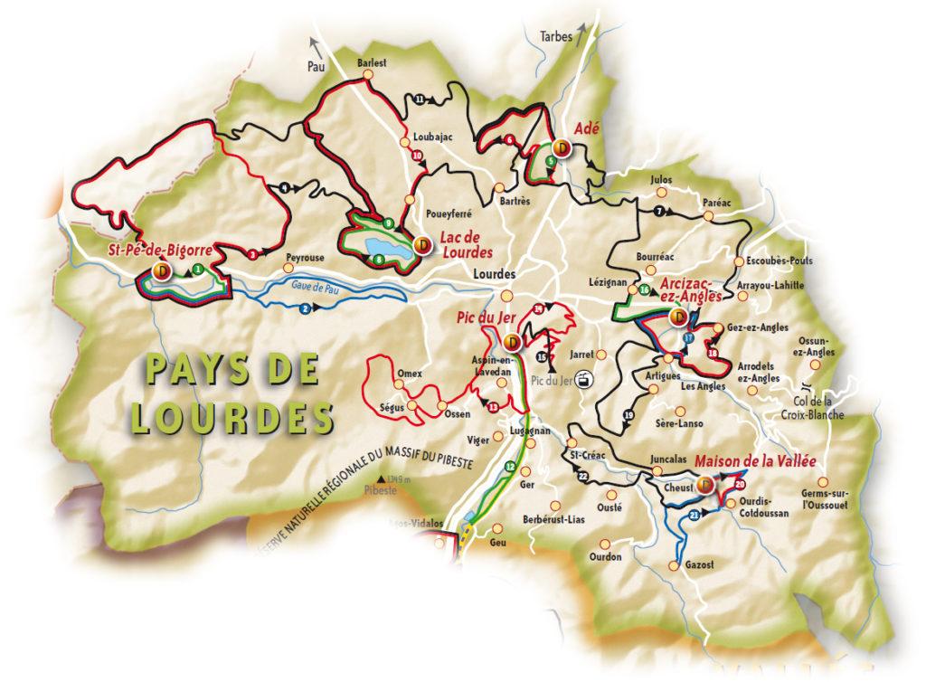 VTT vallées des Gaves circuits Pays de Lourdes