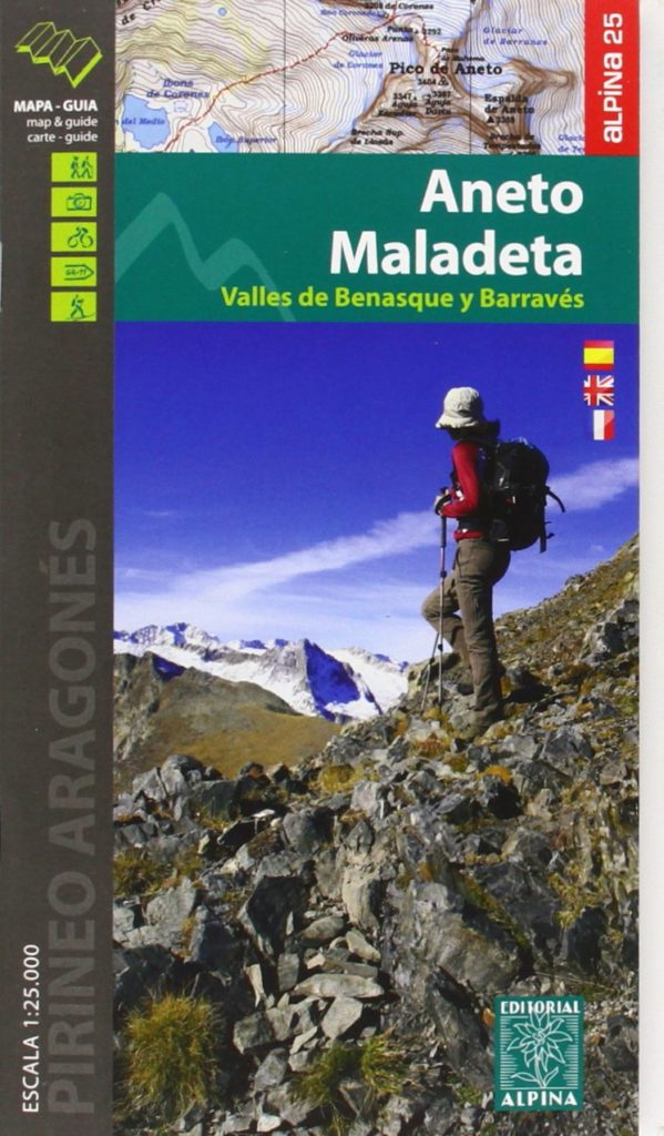 Carte Alpina E-25 Aneto Maladeta Valles de Benasque y Barraves
