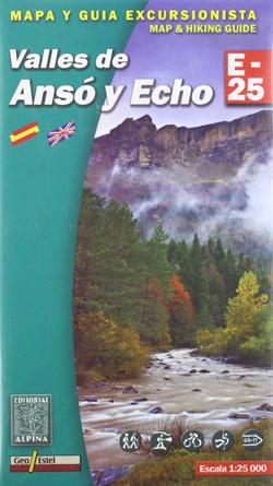 Carte Alpina E-25 Valles de Ansó y Hecho