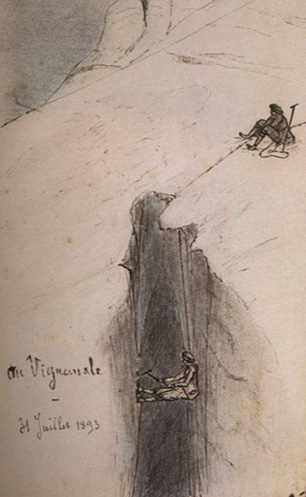 Henri Brulle au vignemale le 31 juillet 1893