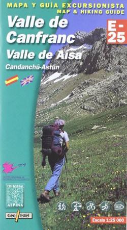 Carte Alpina E-25 Valle de Canfranc - Valle de Aísa