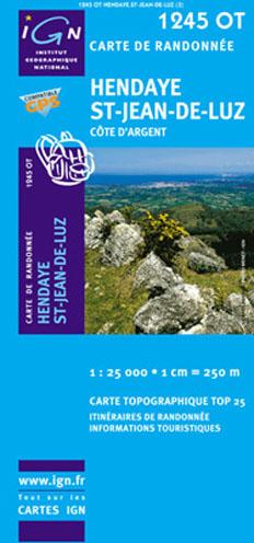 Carte IGN 1245 OT Hendaye – Saint-Jean de Luz
