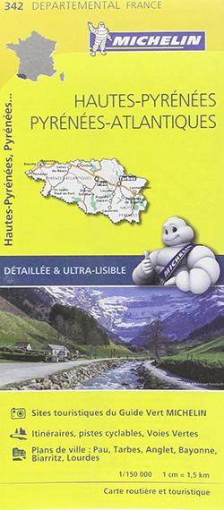 Carte routière et touristique Hautes-Pyrénées, Pyrénées-Atlantiques