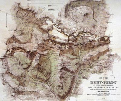 Carte du Mont Perdu de Franz Schrader
