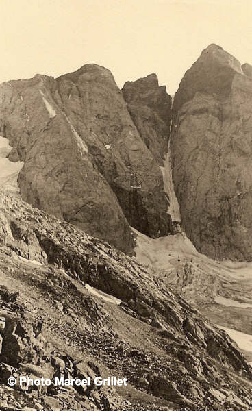 La face Nord du Vignemale et le couloir de Gaube. Photo de Marcel Grillet