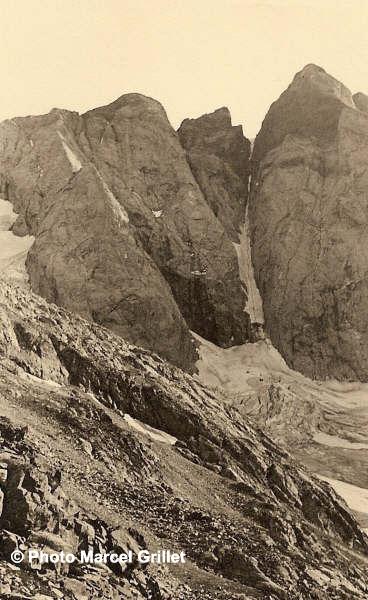 La face Nord du Vignemale et le couloir de Gaube. Photo de Marcel Grillet