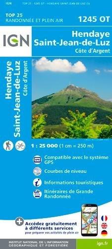Carte IGN TOP 25 Hendaye - Saint-Jean-de-Luz