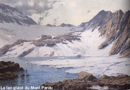 Le lac glacé du Mont-Perdu par Franz Schrader