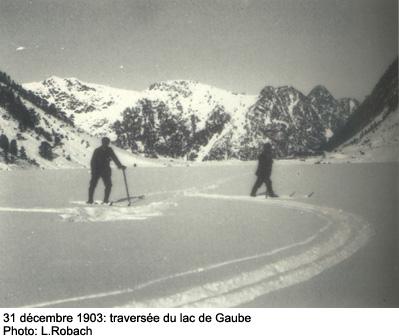 Louis Robach Traversée du lac de Gaube en 1903