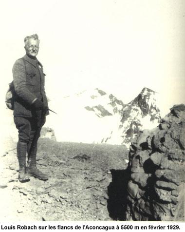 Louis Robach à l'Aconcagua en 1929