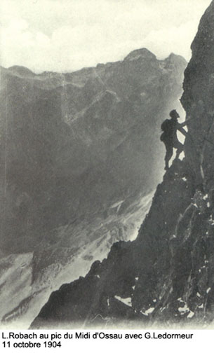 Louis Robach au Pic du Midi d'Ossau en 1904