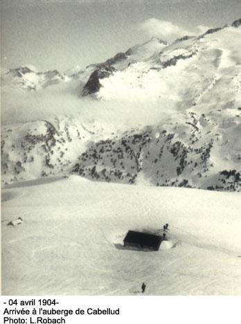 Louis Robach Ascension en skis de l'Aneto en 1904