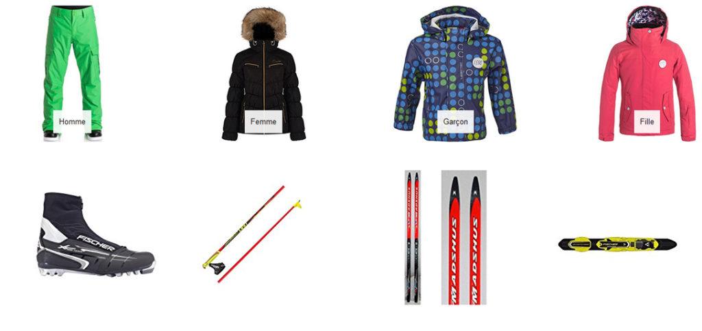 Le matériel de ski de fond