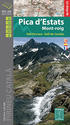 Carte Alpina E-25 Pica d'Estats – Mont-Roig  – Vall Ferrera – Vall de Cardós