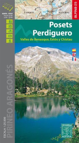 Carte Alpina E-25 Posets - Perdiguero Valles de Benasque Estos Y Chistau
