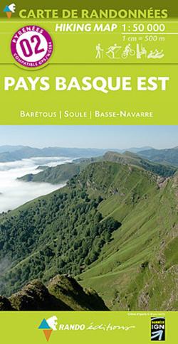 Carte de randonnées 1/50 000 Pyrénées 02 Pays Basque Est