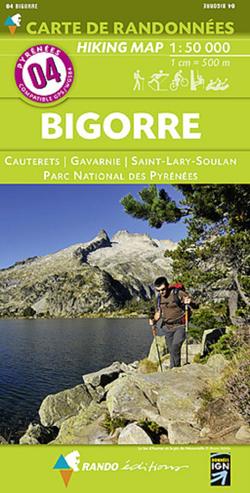 Carte de randonnées 1/50 000 Pyrénées 04 Bigorre - Cauterets - Gavarnie - Saint Lary Soulan - Parc National des Pyrénées