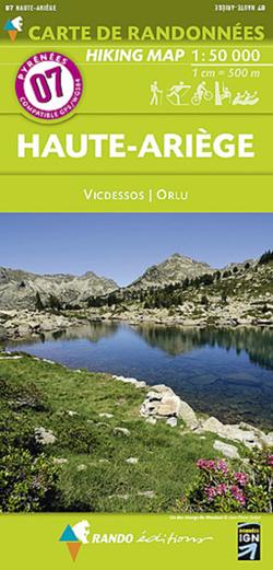 Carte de randonnées 1/50 000 Pyrénées 07 Haute Ariège - Vicdessos - Orlu