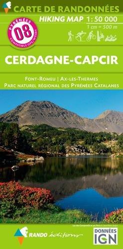 Carte de randonnées 1/50 000 Pyrénées 08 Cerdagne - Capcir - Font Romeu - Ax Les Thermes - Parc Naturel Régional des Pyrénées Catalanes