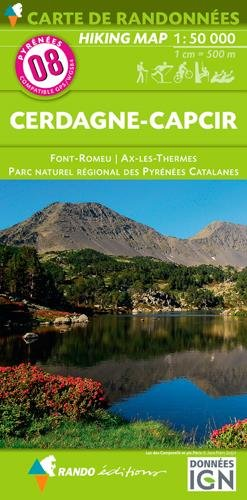 Carte de randonnées 1/50 000 Pyrénées 08 Cerdagne – Capcir
