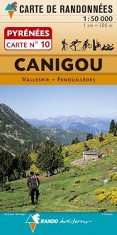 Carte de randonnées 1/50 000 Pyrénées 10 Canigou - Fenouillèdes - Conflent - Vallespir - Parc Naturel Régional des Pyrénées Catalanes