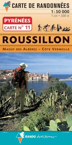 Carte de randonnées 1/50 000 Pyrénées 11 Roussillon - Massif des Albéres