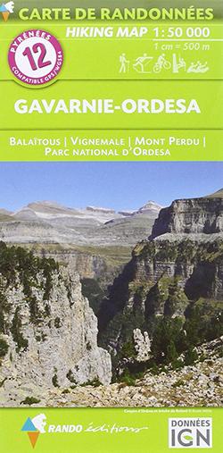 Carte randonnée Gavarnie - Ordesa