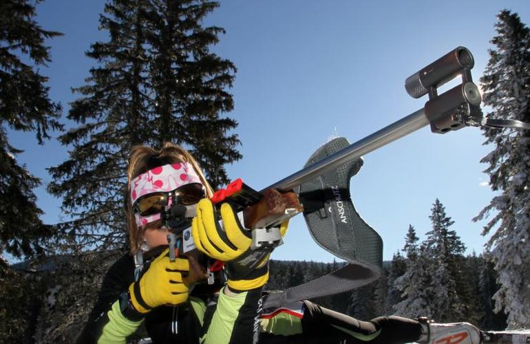 Raquettes à neige et biathlon à Saint-Lary-Soulan