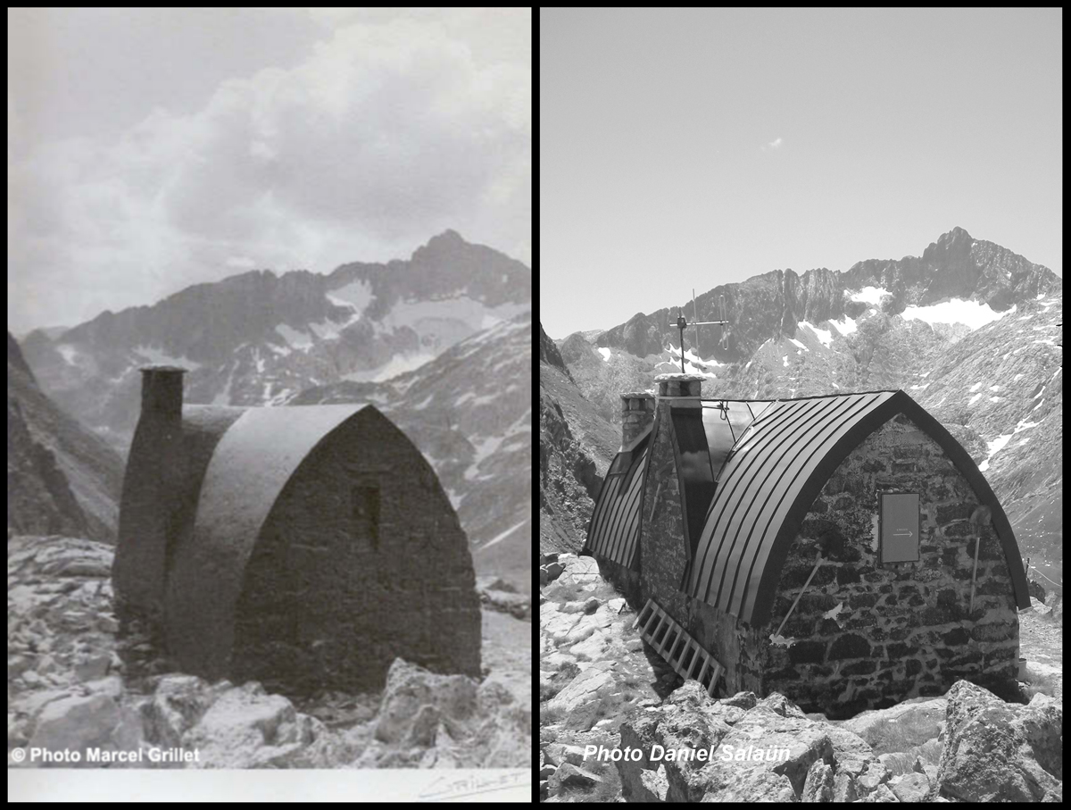 Le refuge Packe - Plus de 70 ans séparent ces deux photos