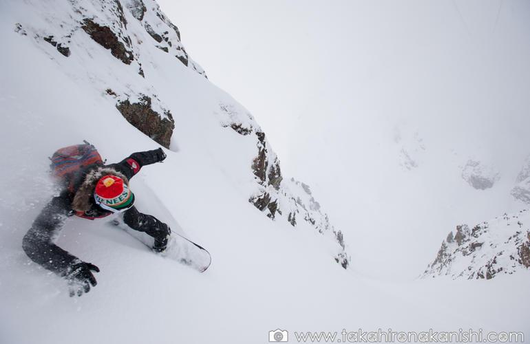Ski hors piste avec Polo De Le Rue