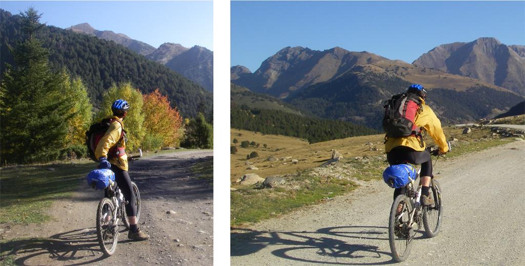 La traversée des Pyrénées en VTT Etape 10 Sur la piste du refuge de Montgarri à Alos de Isil