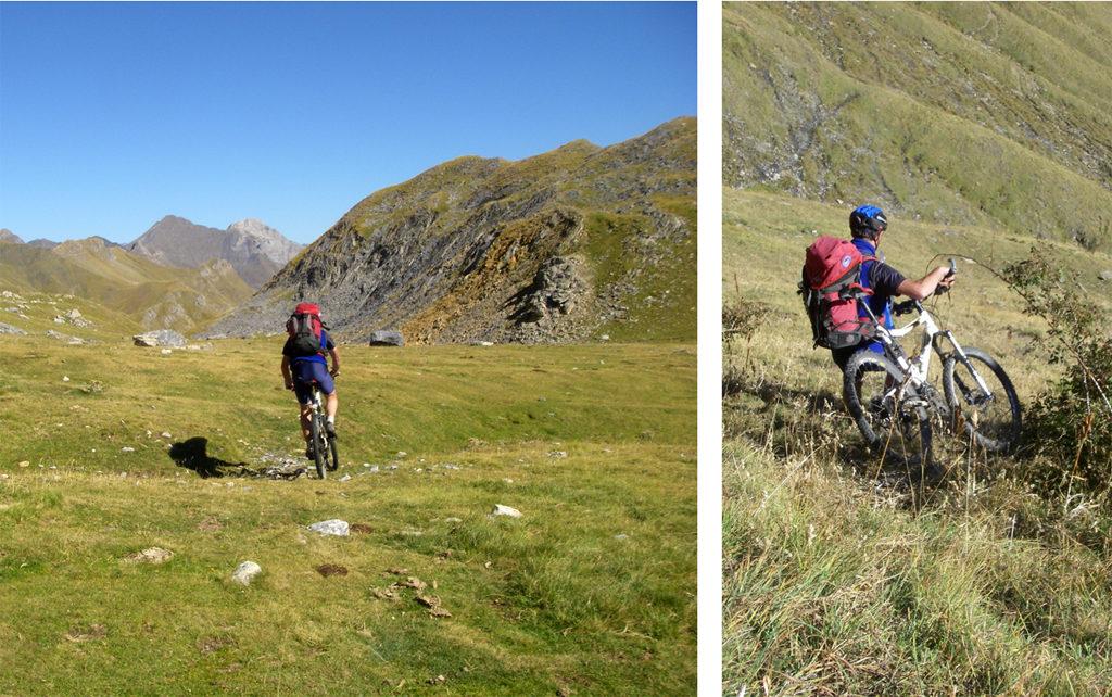 La traversée des Pyrénées en VTT - Etape 6 Descente vers Bujaruelo